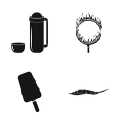 ocean sea travel and other web icon in black vector image