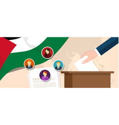 Palestine democracy political process selecting vector