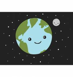 planet earth and the moon vector image