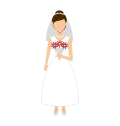 wife wedding dress isolated icon design vector image