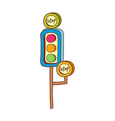 A view of traffic light vector