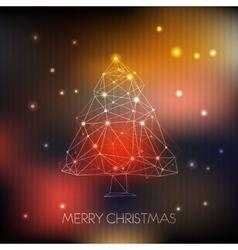 Abstract Polygonal Christmas Tree vector image