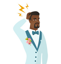 African-american groom with lightning over head vector