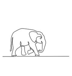 Baelephant walking symbol vector
