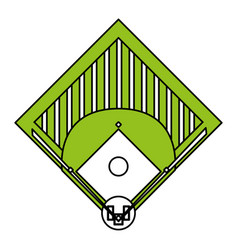 Baseball field design vector