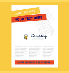 Battery title page design for company profile vector