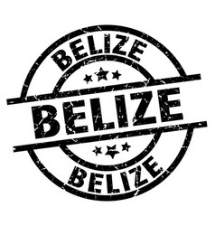 belize black round grunge stamp vector image