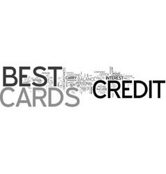 best credit cards text word cloud concept vector image