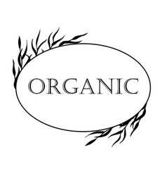 black-and-white for organic products vector image