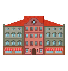 block houses old european buildings with cafe vector image
