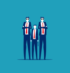 boss with bodyguards business security vector image