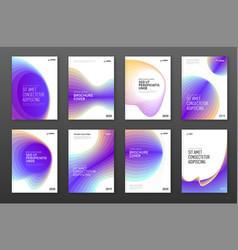 Brochure cover design templates set vector