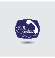 Call center icon with phone vector image
