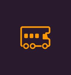 camper icon vector image