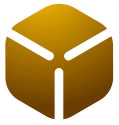 cardboard cube box logo icon vector image
