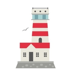 cartoon flat lighthouses vector image