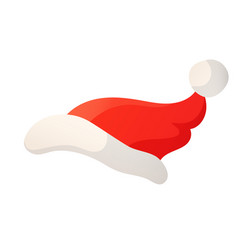 cartoon of santa red hat isolated on vector image