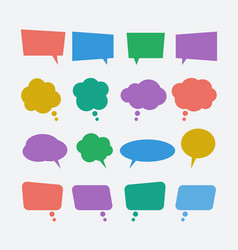 colored speech bubble icons set vector image