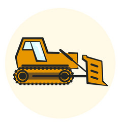 Colorful outline earth mover icon vector
