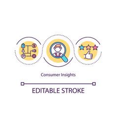 Consumer insights concept icon vector