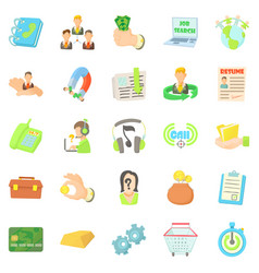 Credit card icons set cartoon style vector