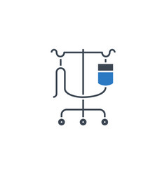 Dropper stand related glyph icon vector