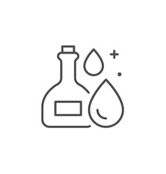 essential oil line outline icon vector image
