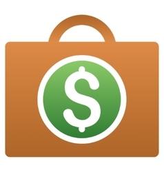 Expensive Baggage Gradient Icon vector