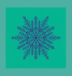 Flat shading style icon snowflake vector