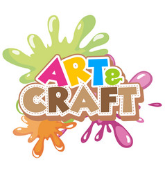 Font design for word art and craft vector