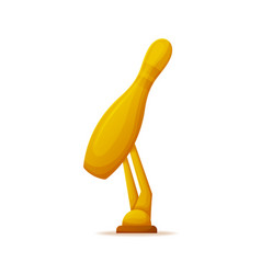 golden award of skittle trophy of ninepins vector image