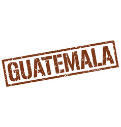 Guatemala brown square stamp vector