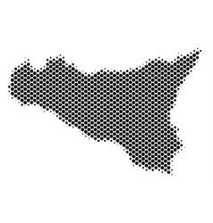 Halftone dot sicilia map vector