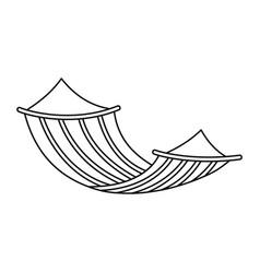 Hammock icon outline style vector