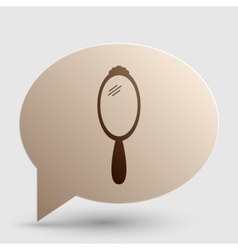 Hand Mirror sign Brown gradient icon on bubble vector