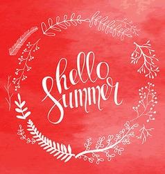 hello summer card in vector image