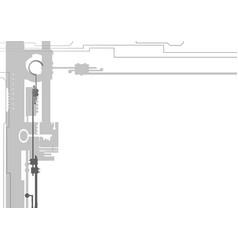 hook mechanism vector image