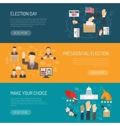 Horizontal Election Banner vector image vector image