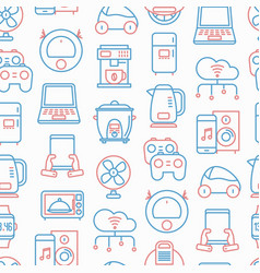 internet things seamless pattern vector image