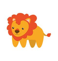 Lion infantile cartoon animal vector