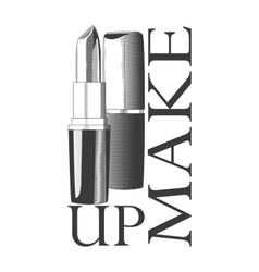 Logo with image lipstick vector