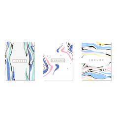 luxury abstract card design set brochure flyer vector image
