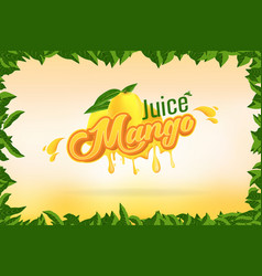 mango juice brand company logo design with vector image