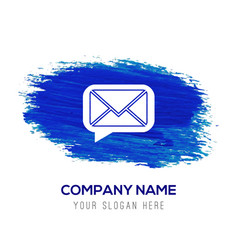 Message icon - blue watercolor background vector