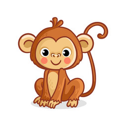Monkey on a white background vector