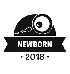 newborn human logo simple black style vector image