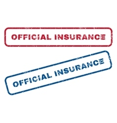 Official Insurance Rubber Stamps vector