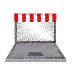 online shopping or ecommerce icon image vector image