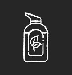 organic hand sanitizer chalk white icon on black vector image