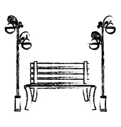 oudoors bench icon image vector image